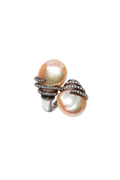 Assael - Freshwater Pearl Diamond Ring