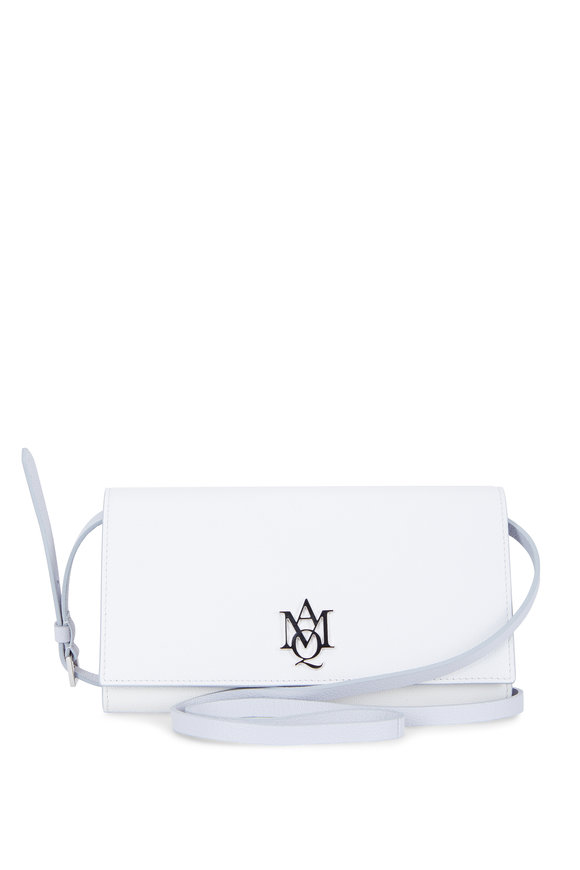 Alexander McQueen Insignia White Leather Strap Wallet