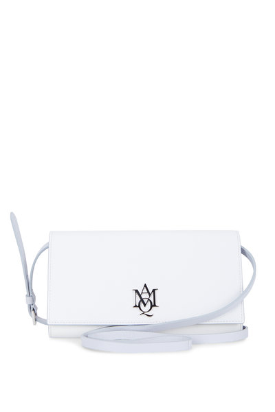 Alexander McQueen - Insignia White Leather Strap Wallet
