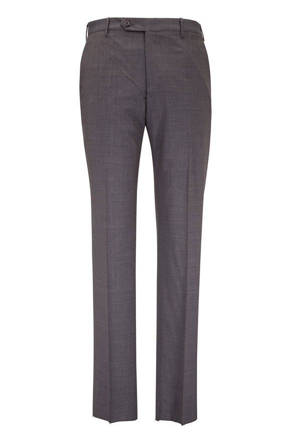 Zanella Parker Blue Tropical Contemporary Fit Wool Pant