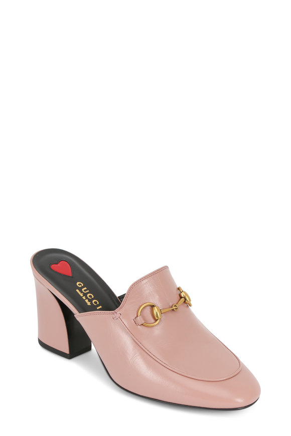 Gucci Princetown Pink Leather Bit Mule, 75mm
