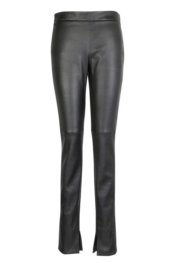 Akris Fria Black Nappa Leather Pant