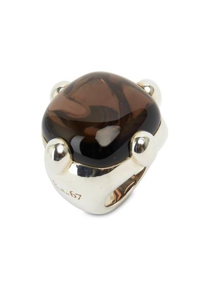 Pomellato - Sterling Silver Fancy Square Ring