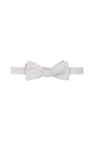 Dion - White Silk Faille Bow Tie