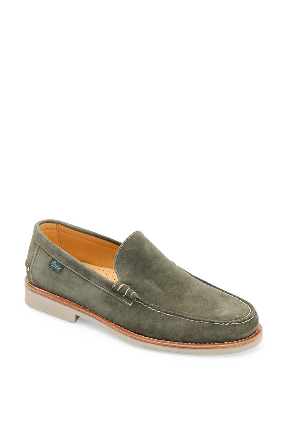 Paraboot Cambridge Green Suede Loafer