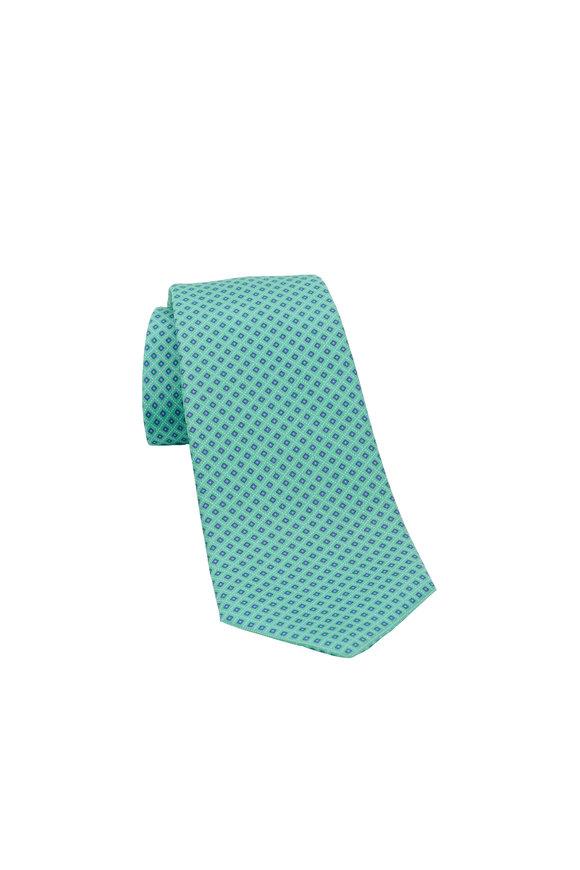 Kiton Green Diamond Silk Necktie
