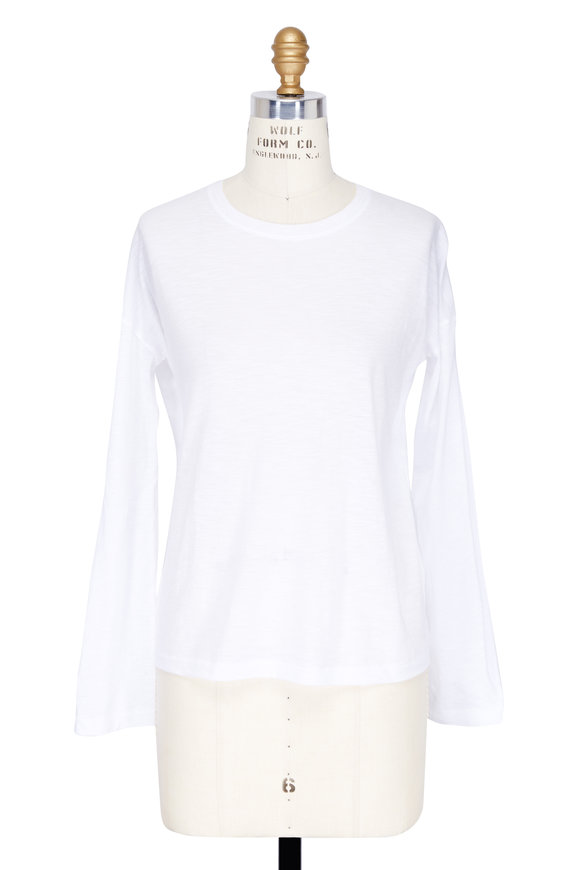 Vince White Relaxed Long Sleeve T-Shirt
