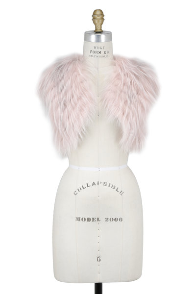 Oscar de la Renta Furs - Blossom Arctic Marble Fox Bolero