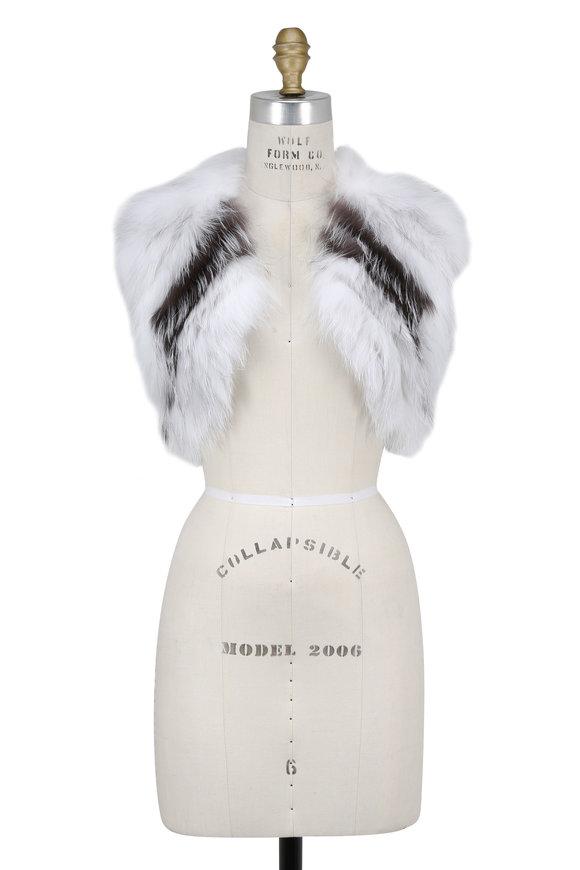 Oscar de la Renta Furs Natural Arctic Fox Stripe Bolero