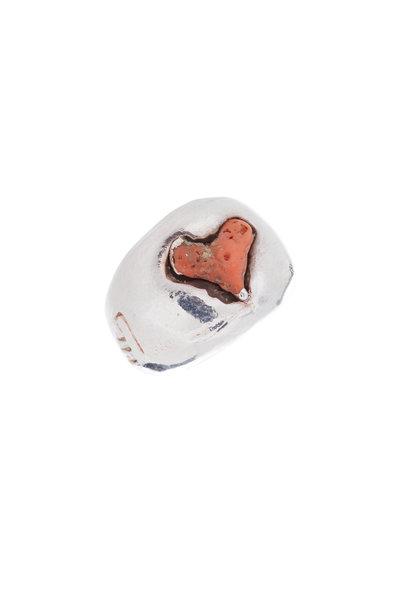 Precious - Coral Heart Ring