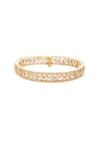 Loren Jewels - Yellow Gold Diamond Bangle