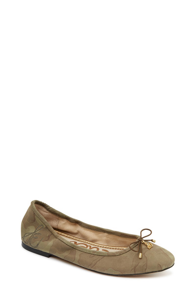 Sam Edelman - Felicia Olive Camouflage Print Ballet Flats