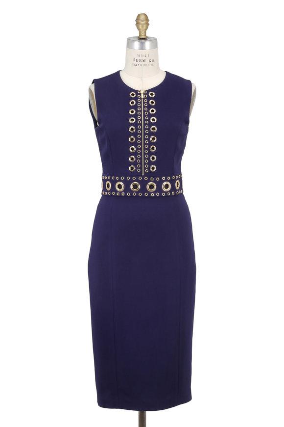 Michael Kors Collection Maritime Grommet Detail Sleeveless Dress