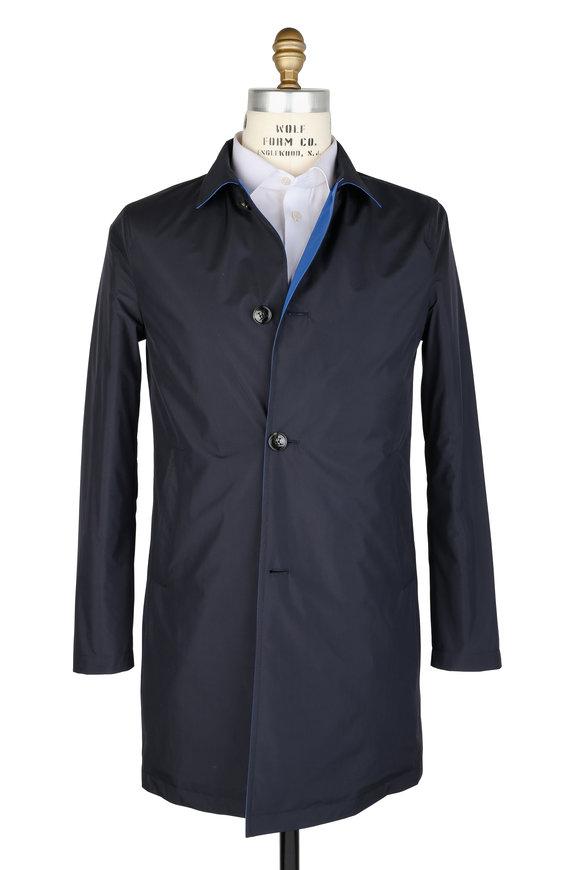 Kiton Navy Blue Rain Coat