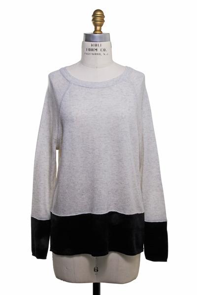 Vince - Gray & Black Cashmere Sweatshirt