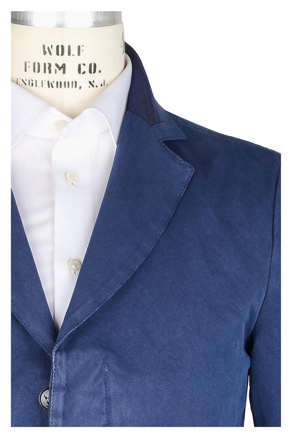 Kiton Indigo Blue Abaca Sportcoat