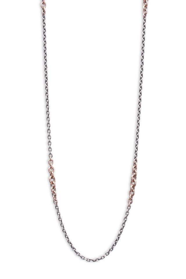Silver Semi Precious Mix Link Necklace