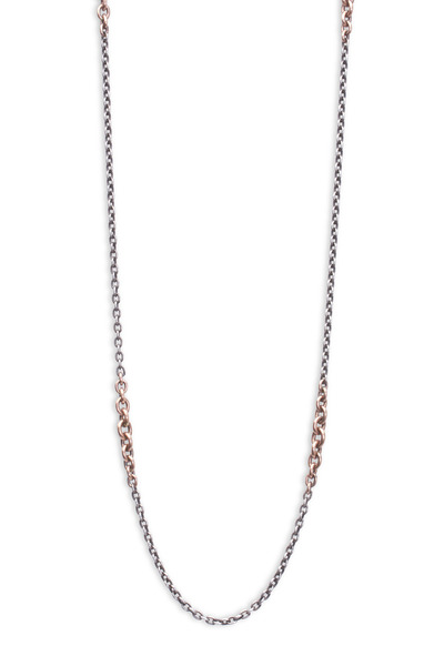 Sylva & Cie - Silver Semi Precious Mix Link Necklace
