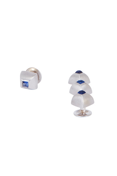 Sasson Thomas - Sapphire & Silver Stud Set