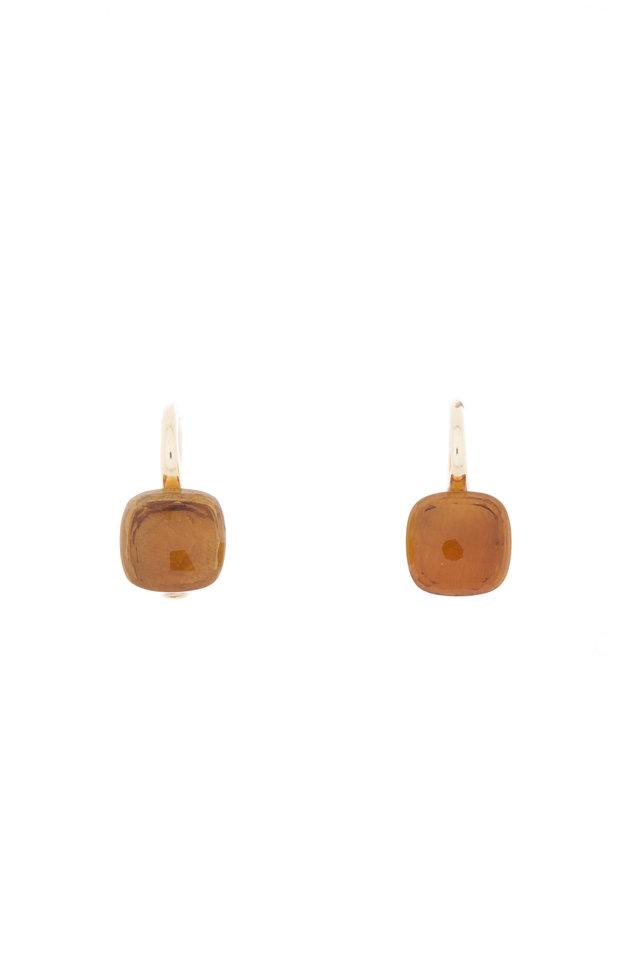 Nudo 18K Rose & White Gold Citrine Drop Earrings