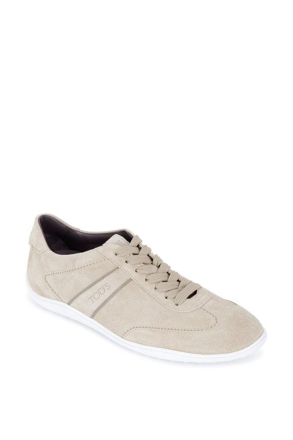 Tod's New Owen Sand Suede Sneaker
