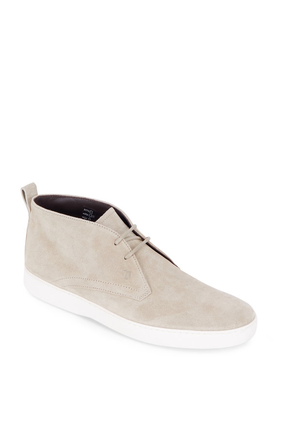 Tod's Stone Suede Chukka Boot