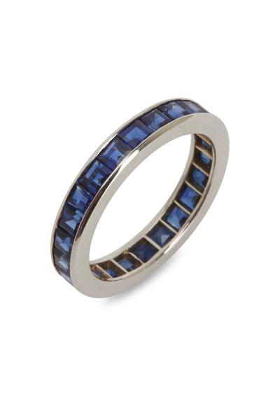 Oscar Heyman - Platinum Blue Sapphire Ring