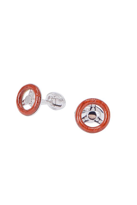 Jan Leslie Sports Car Steering Wheel Cuff Links