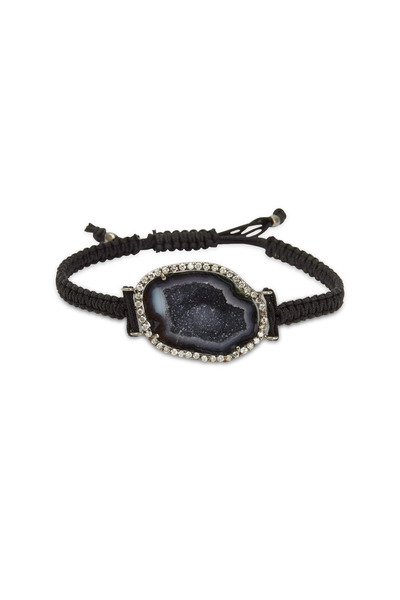 Kimberly McDonald - Black Macrame White Gold Diamond Bracelet
