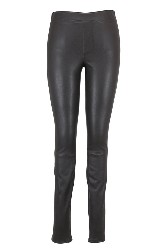 Helmut Lang Cyclone Gray Stretch Leather Legging