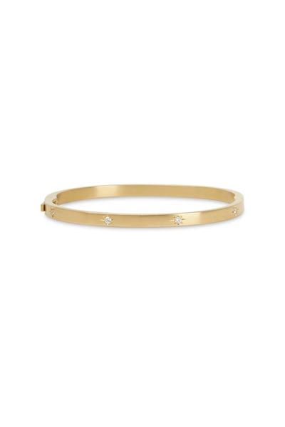 Caroline Ellen - Yellow Gold White Diamond Bracelet
