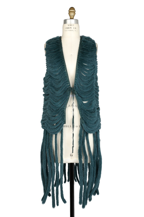 Brandon Sun Hunter Green Dyed Nappa Mink Vest