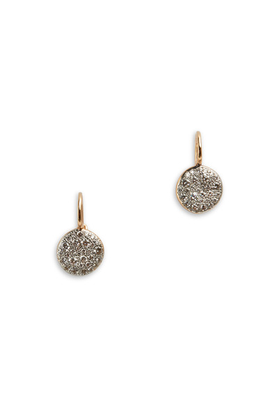 Pomellato - Sabbia 18K Rose Gold White Diamond Disc Earrings