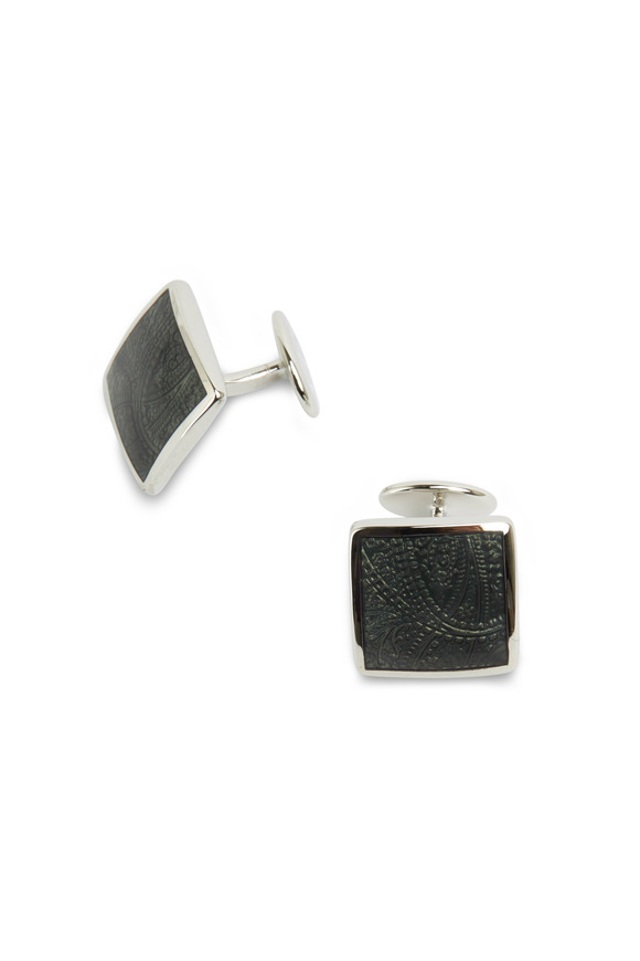 David Donahue Sterling Silver Paisley Cuff Links