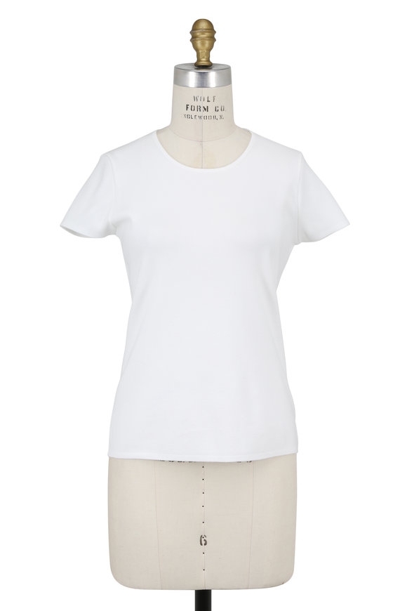 Escada Sovas White Short Sleeve Knit T-Shirt