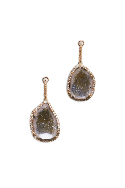 Kimberly McDonald - Rose Gold Diamond Geode Earrings
