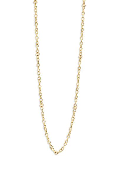 Caroline Ellen - Yellow Gold Diamond Rondelle Chain Necklace