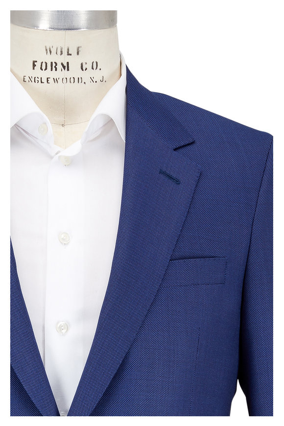 Coppley Blue Tic Pattern Wool Suit
