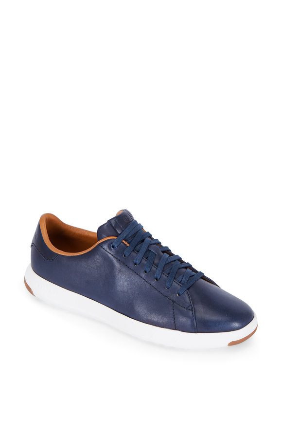 Cole Haan Grandpro Tennis Navy Blue Leather Sneaker