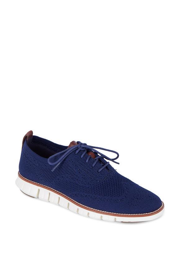 Cole Haan Zerogrand Stitchlite Marine Blue Knit Oxford