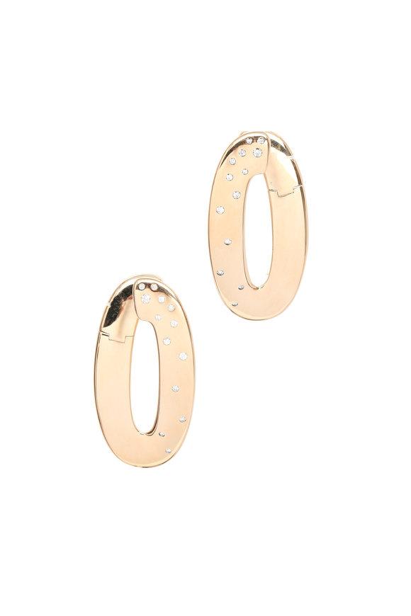 Vhernier Pink Gold White Diamond Olimpia Earrings