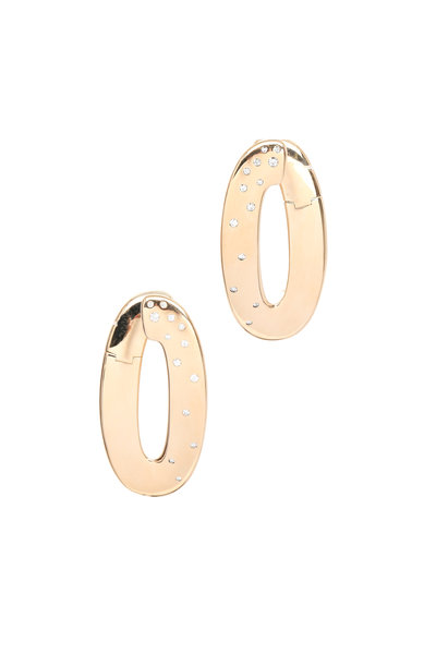 Vhernier - Pink Gold White Diamond Olimpia Earrings
