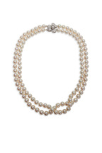 Assael - White Gold Akoya Pearl 2 Strand Necklace