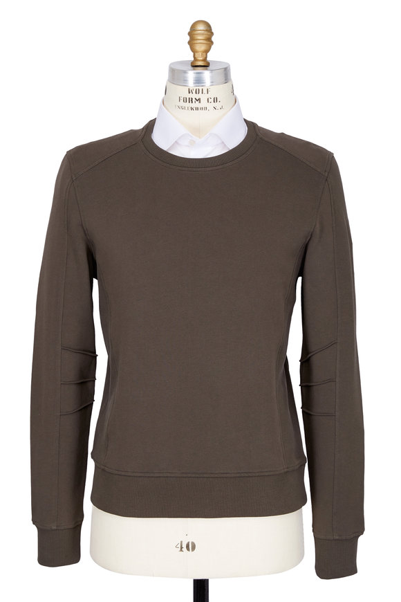 Belstaff New Chanton Military Green Fleece Sweatshirt