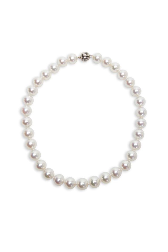 White Gold White South Sea Pearl Strand Necklace