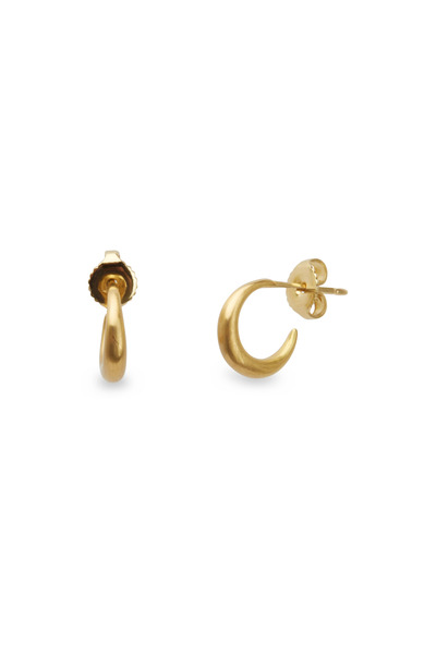 Caroline Ellen - 20K Yellow Gold Small Tapered Hoops
