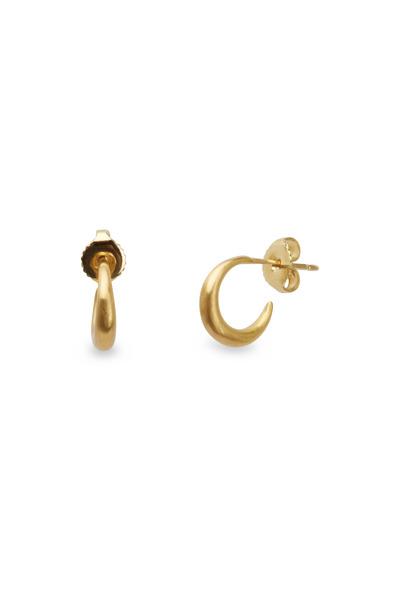 Caroline Ellen - 20K Yellow Gold Small Tapered Hoops