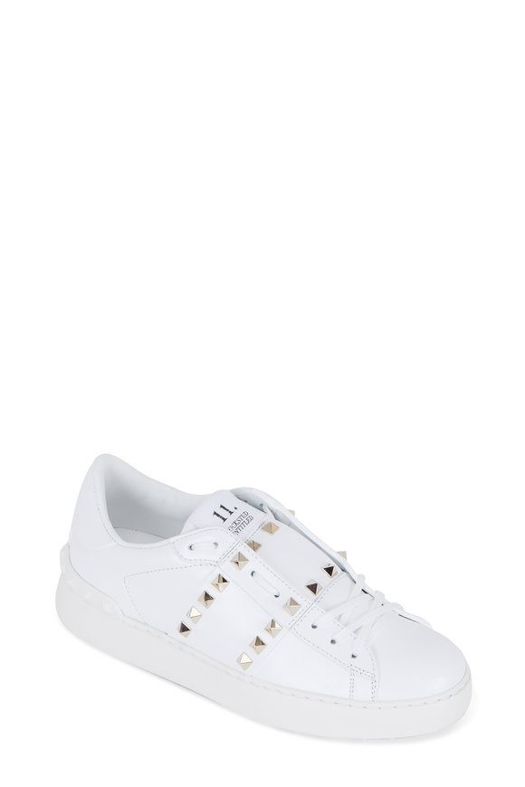 Valentino Rockstud Untitled White Leather Sneaker