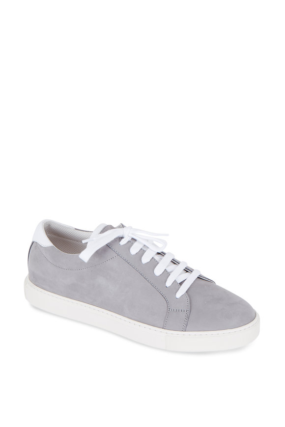 Brunello Cucinelli Gray Suede Lace-Up Sneaker