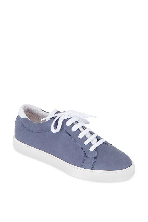 Brunello Cucinelli Slate Suede Lace-Up Sneaker